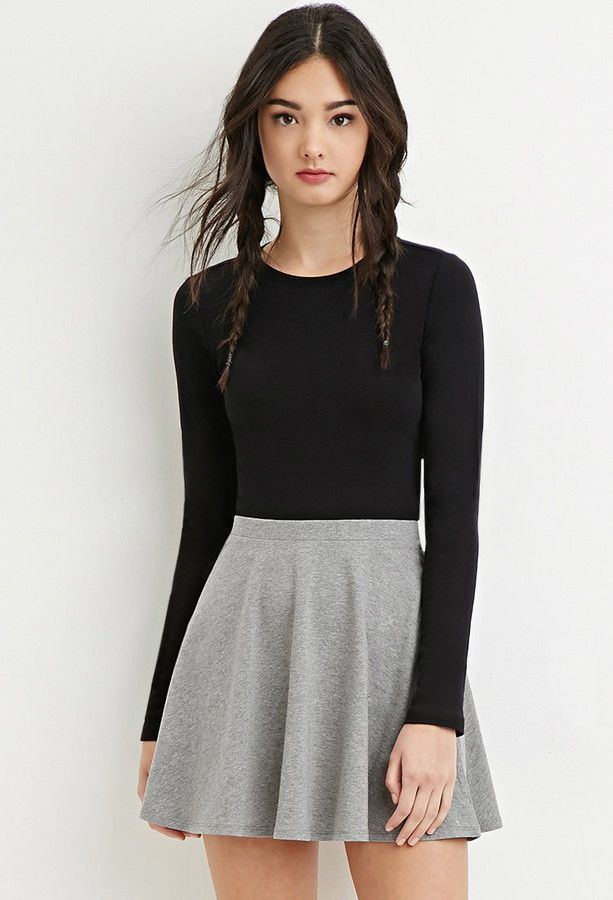 bf2113a1fa FOREVER 21 Classic Skater Skirt     this with a black and white plaid shirt  with it tied around ur waist would be SUPER CUTE❤ ❤ 👍👍😱😱😍😍
